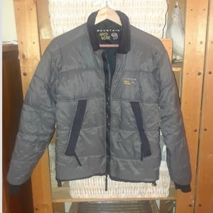 EUC Mountain Hardwear Puffer gray black puffer